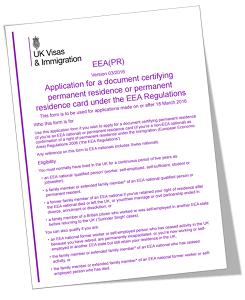 EEA PR Online Form