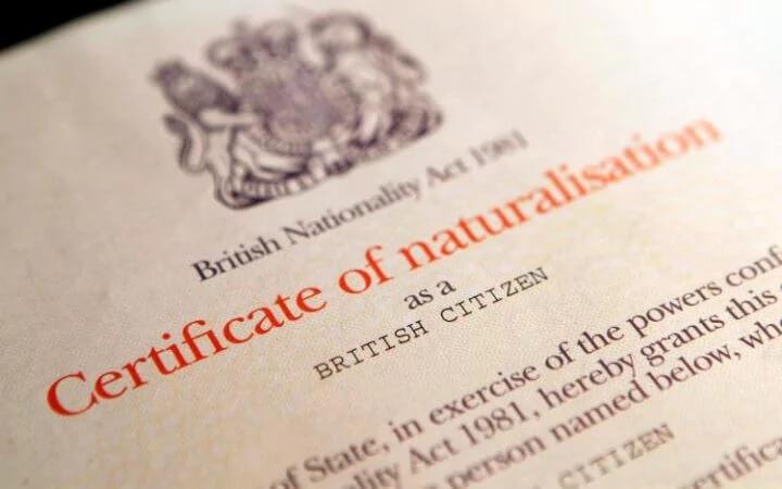 citizenship cert