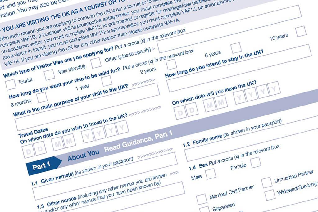 UK New Immigration Form